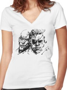 Metal Gear Solid 5 Drawing  Women's Fitted V-Neck T-Shirt