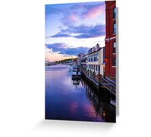 Along The Mystic Waterfront Greeting Card