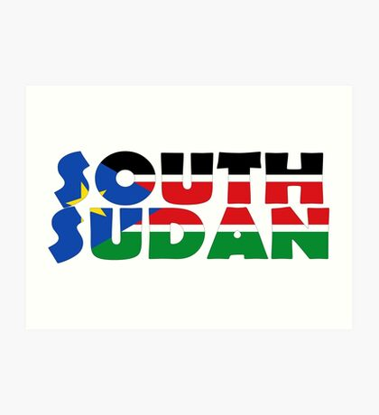 South Sudan Art Print