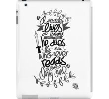 A song of ice and fire - Quote iPad Case/Skin