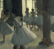 Edgar Degas - La Repetition au foyer de la danse (180-1872) Sticker