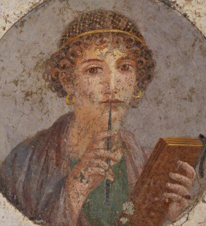 Souvenir from Pompeii - Saffo is thinking Sticker