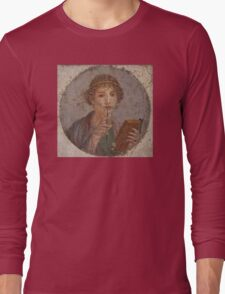 Souvenir from Pompeii - Saffo is thinking Long Sleeve T-Shirt