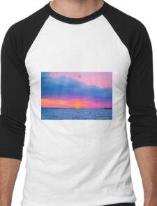 Pastel Skies Men's Baseball ¾ T-Shirt