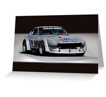 1973 Datsun 240Z GT Vintage Race Car Greeting Card