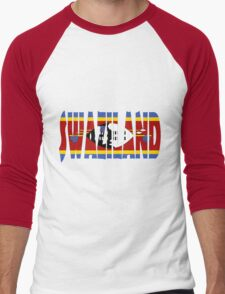 Swaziland Men's Baseball ¾ T-Shirt