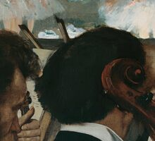 Edgar Degas - Orchestra Musicians (1872) Sticker