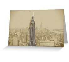 Empire State Building Mixed Media Greeting Card