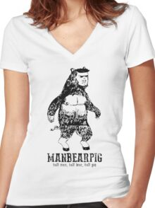 MANBEARPIG South Park Mythical Beast Funny Vintage Women's Fitted V-Neck T-Shirt