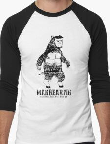 MANBEARPIG South Park Mythical Beast Funny Vintage Men's Baseball ¾ T-Shirt