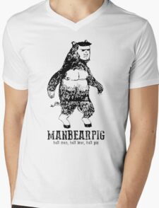 MANBEARPIG South Park Mythical Beast Funny Vintage Mens V-Neck T-Shirt