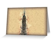 Empire State Building Mixed Media #2 Greeting Card