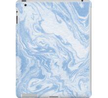 Ryoko - spilled ink abstract painting marble marbled paper art minimal swirl modern water ocean wave iPad Case/Skin