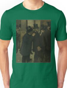 Edgar Degas - Portraits at the Stock Exchange (1878 - 1879) Unisex T-Shirt
