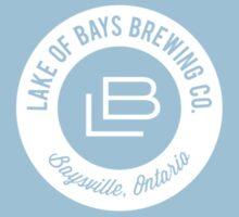 Lake of Bays Logo - White One Piece - Short Sleeve
