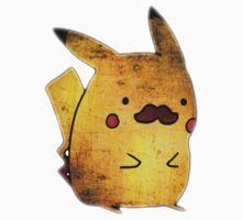 PIKACHU MOUSTACHE Pokemon Anime Ling-Ling Nintendo Rare Retro Funny Kids Clothes