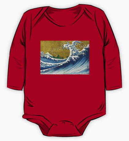 Japanese wave - Square One Piece - Long Sleeve