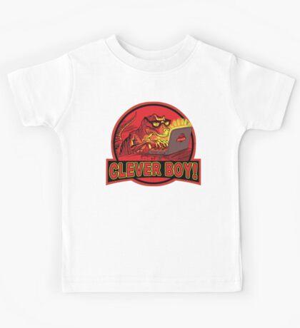 Clever Boy Velociraptor Dinosaur Humor Kids Tee