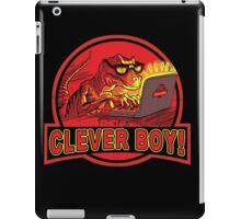 Clever Boy Velociraptor Dinosaur Humor iPad Case/Skin