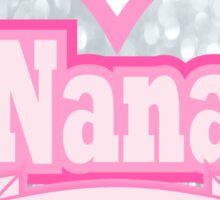 Cute Grey Pink Typography World's Coolest Nana  Sticker