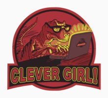 Clever Girl Velociraptor Dinosaur Humor Kids Clothes