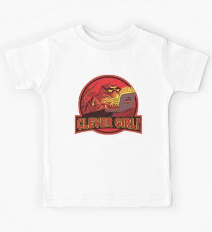 Clever Girl Velociraptor Dinosaur Humor Kids Tee