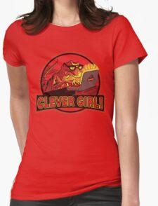 Clever Girl Velociraptor Dinosaur Humor Womens Fitted T-Shirt
