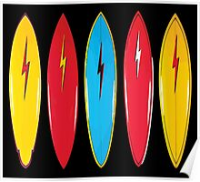 My cool vintage surfboards  Poster