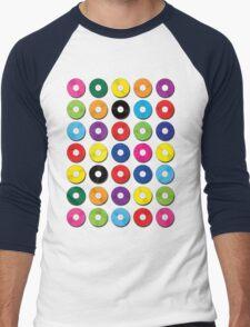 Music Vinyl Record Spots Sml Men's Baseball ¾ T-Shirt