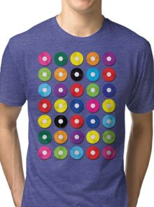 Music Vinyl Record Spots Sml Tri-blend T-Shirt