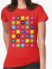 Music Vinyl Record Spots Sml Womens Fitted T-Shirt