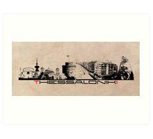 Thessaloniki skyline city Art Print