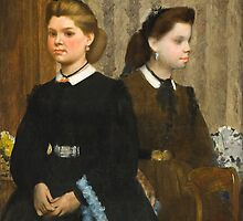Edgar Degas - The Bellelli Sisters (Giovanna and Giuliana Bellelli) 1865 - 1866 by famousartworks