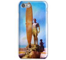 Surfer Statue ~ California ~ USA iPhone Case/Skin