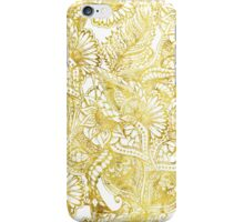 Elegant chic gold foil hand drawn floral pattern iPhone Case/Skin