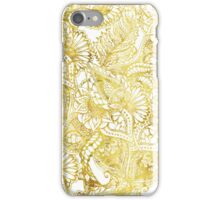 Elegant chic gold foil hand drawn floral pattern iPhone Case/Skin