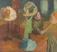 Edgar Degas - The Millinery Shop (1879-86) by famousartworks