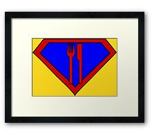 Hero, Heroine, Superhero, Super Hungry Framed Print