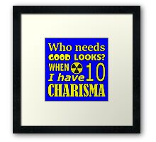 Smooth Gamer - Gamer Geek Charisma Fallout Framed Print