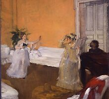 Edgar Degas - The Song Rehearsal ( 1872-1873) by famousartworks