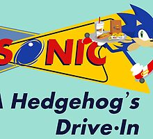 A Hedgehog's Drive-In by wanderingent