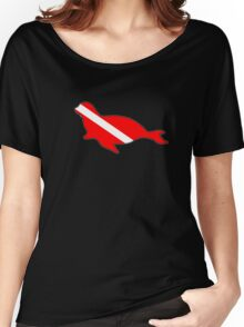 Dive flag seal Women's Relaxed Fit T-Shirt
