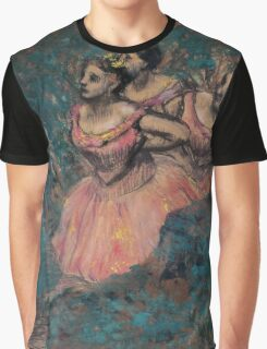 Edgar Degas - Three Dancers in Red Costume (1896) Impressionism  ballerina dancer Graphic T-Shirt