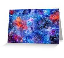 Space hand painted watercolor background Greeting Card