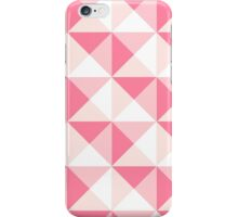 Pink Fuchsia Rose Salmon White Geometric Triangles Pattern iPhone Case/Skin