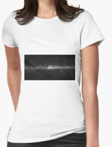 The Milky Way Galaxy Panorama  Womens Fitted T-Shirt