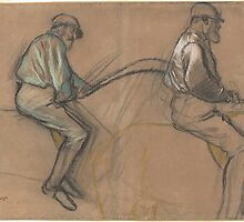 Edgar Degas - Two Studies of a Jockey ( 1884) by famousartworks