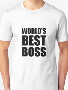 Worlds Best Boss T-Shirt