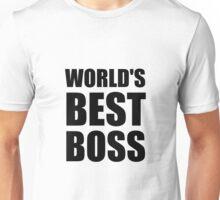 Worlds Best Boss Unisex T-Shirt