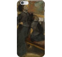 Edgar Degas - Visit to a Museumabout 1879 - 1890 iPhone Case/Skin